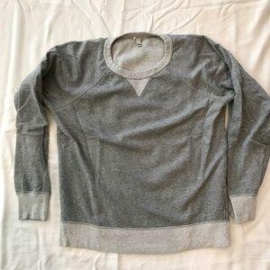 J. CREW Classic Grey Sweatshirt Two Tone